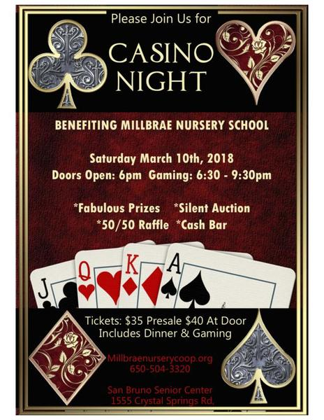 Casino Gaming Millbrae Nursery School donate to a great cause