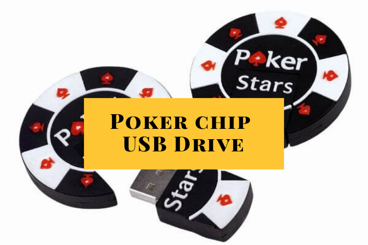 Poker chip USB drive casino gift